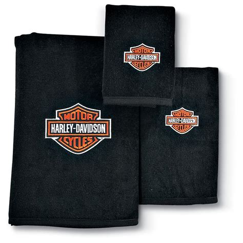 bathroom towels ideas 3 pc harley davidson towel set 132388 bath at