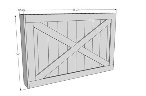 barn door dimensions sliding tv cover woodworking plans woodshop plans