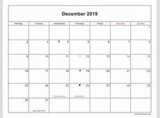 December 2019 Calendar Printable with Bank Holidays UK