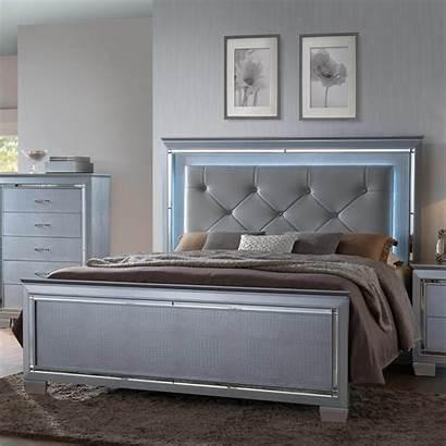 Mark Bedroom Bed B7100 Crown Queen Bling