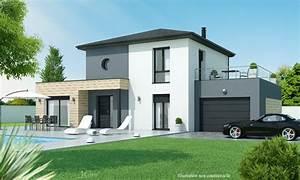 laissez vous seduire par cette maison moderne a etage a l With plan de maison a etage 12 realisations maisons maison laprise maisons pre usinees