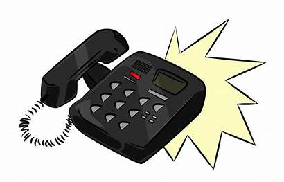 Phone Office Clipart Telephone Clip Ringing Phones