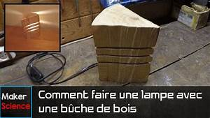 Comment Fabriquer Une Lampe : diy comment faire une lampe avec une b che de bois youtube ~ Medecine-chirurgie-esthetiques.com Avis de Voitures