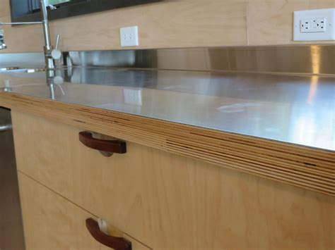 stainless steel countertop edging stainless steel laminated to baltic birch woodweb s 5716