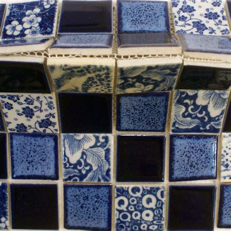 porcelain pool tiles floor blue and white tile square