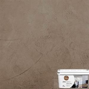 enduit decoratif effet beton 5l brun soft sous couche With enduit de lissage sur peinture