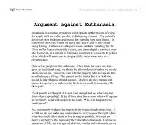 euthanasia essay introduction