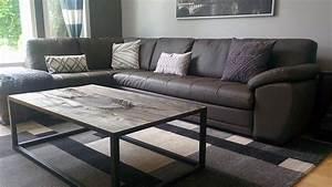 Table De Salon Bois : r alisations de meuble en bois de grange ~ Teatrodelosmanantiales.com Idées de Décoration