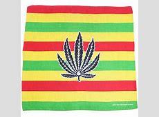 Bandana Bob Marley Flag Colours Hemp Leaf Image 100%