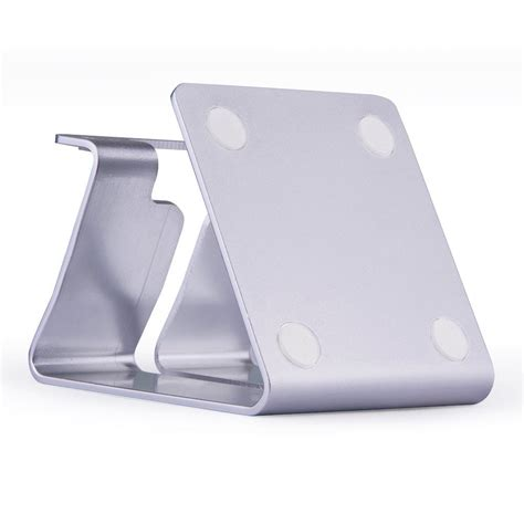 mobile press register circulation desk aluminium desk stand for phones small tablets silver