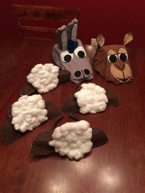 homemade nativity costume masks donkey camel