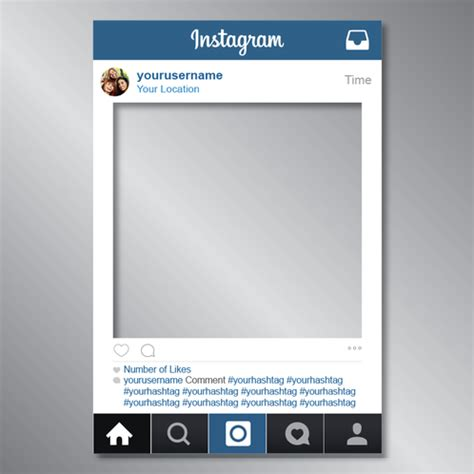 instagram frame prop template instagram cut out small 32x48cm the print shop