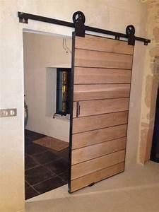 porte coulissante exterieure bois porte coulissante bois With porte coulissante exterieure bois