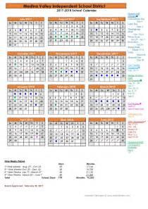 2017 2018 Calendar School