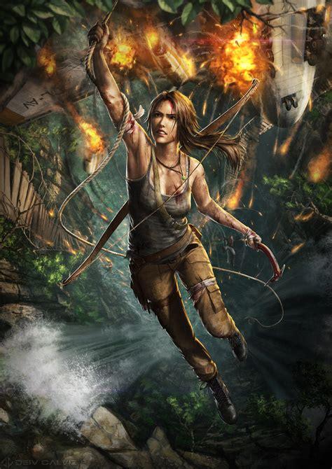 Tomb Raider Stuff Deiv Calviz Illustrations Concept