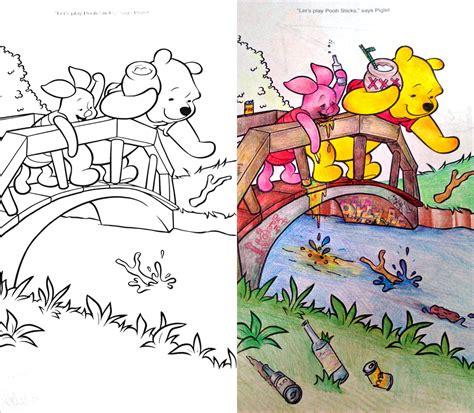 pooh coloring book corruptions