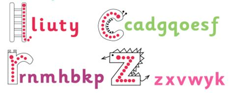 step  step letter formation handwriting letters
