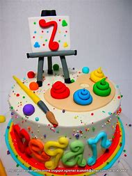 Artist Theme Birthday Cake