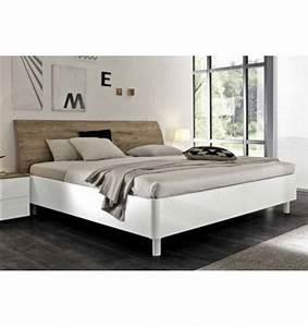 Lit Blanc Adulte : lit adulte roma blanc 160cm ~ Teatrodelosmanantiales.com Idées de Décoration