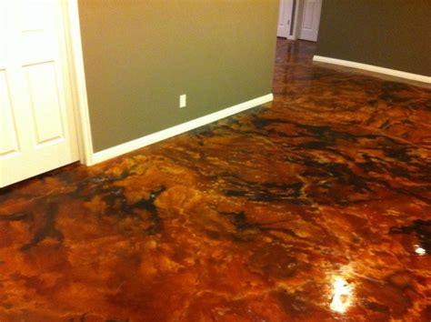 waterproof vinyl plank flooring acid stained concrete floors houses flooring picture ideas