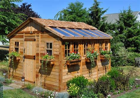 living in a shed she shed sunshed garden 12 x12 outdoor living today