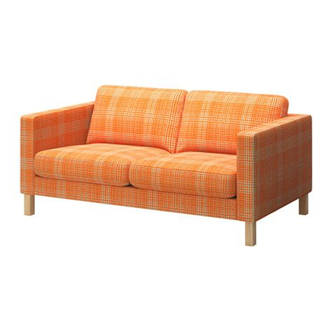 canapé karlstad karlstad canapé 2 places husie orange ikea