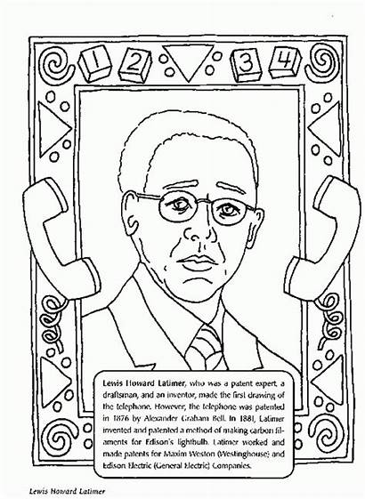 History Month Coloring Pages Lewis Latimer Howard