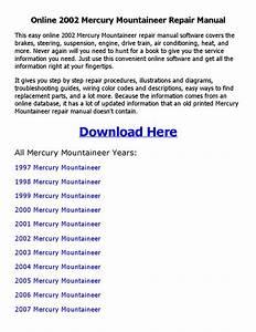2002 Mercury Mountaineer Repair Manual Online By Johnny