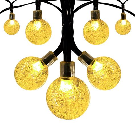 solar globe lights outdoor solar globe outdoor string lights 8 95 from 30