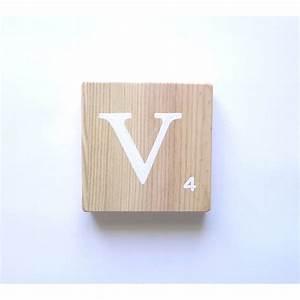 Lettre Decorative A Poser : lettre deco en bois poser ~ Dailycaller-alerts.com Idées de Décoration