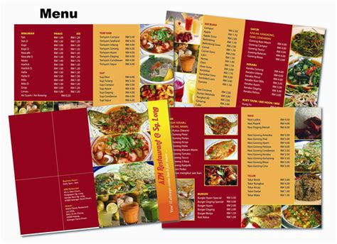 inspiration cuisine beautiful restaurant menu designs inspiration design