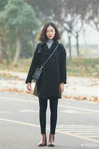 Womenu0026#39;s Black Coat Grey Turtleneck Black Skinny Jeans ...