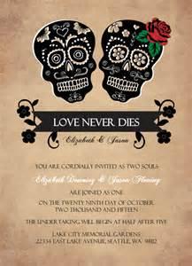 skull wedding invitations wedding invitations day of the dead skulls wedding invitation