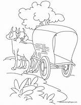 Coloring Cart Pages Bullock Road Horse Trip Standing Sketch Printable Grease Carriage Lightning Drawing Easy Sheets Roads Days Bestcoloringpages Buggy sketch template