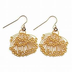 Gold Gum Blossom Earrings for Unique Australiana Gifts
