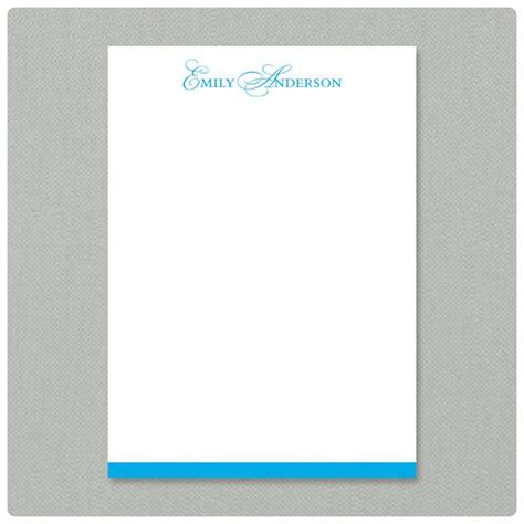 personalized notepad elegant initials stationery