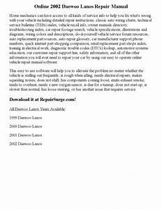2002 Daewoo Lanos Repair Manual Online By Parker