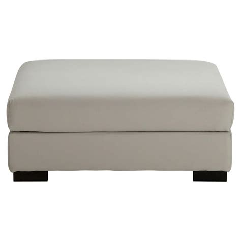 pouf de canapé pouf de canapé modulable en coton gris clair terence