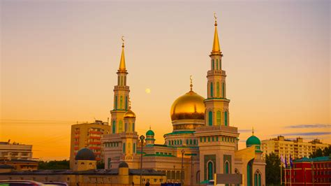 Golden Mosque Wallpaper by Gold Mosque During Sunset 183 Free Stock Photo