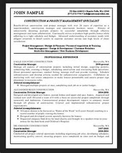 general contractor resume writing general contractor resume sle resumes design