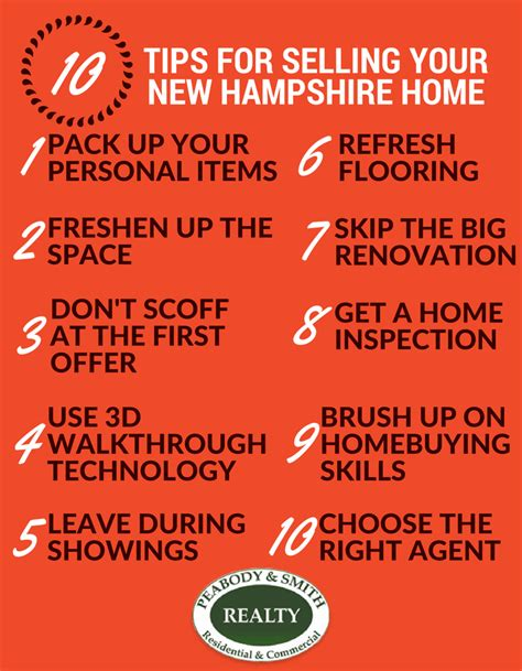 Design Tips For Selling Your Home by 10 Tips For Selling Your New Hshire Home Peabody