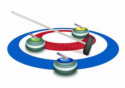 Curling Ice Stones Sheet Broom Stone Clipart