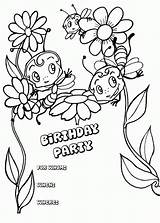 Birthday Happy Coloring Printable Invitation Cards Colouring Carte Coloriage Bestcoloringpagesforkids Bees Imprimer Sheets Popular Rocks Activity Coloringhome Animal Hellokids sketch template
