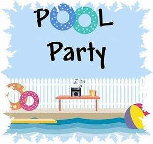 Pool Party Clip Art - 33 cliparts
