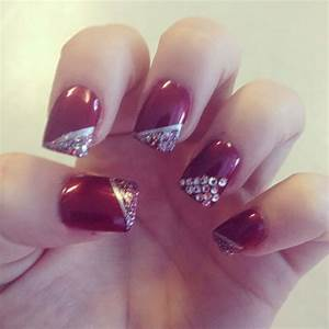 Red and silver nail designs | Nails! | Pinterest | Silver ...