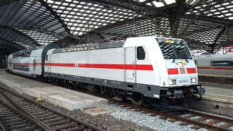 Baureihe 146 mit neuem IC Design und Doppelstockwagen bei