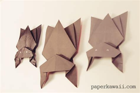 hanging origami bat  halloween paper kawaii