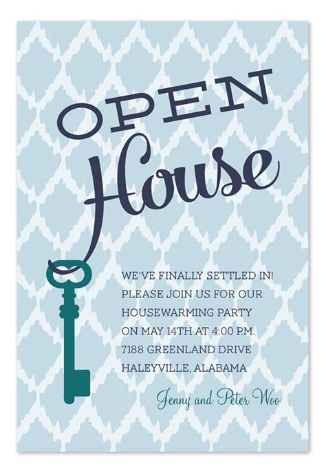 modern shower ideas open house key invitations by invitation