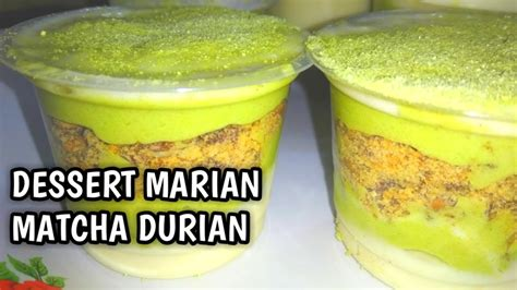 For more information and source, see on this link : DESSERT MARIAN MATCHA DURIAN | RESEP JUALAN | CEMILAN KELUARGA | MUDAH DAN MURAH - YouTube