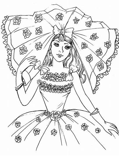 Coloring Pages Bride Pretty Printable Princess Adult